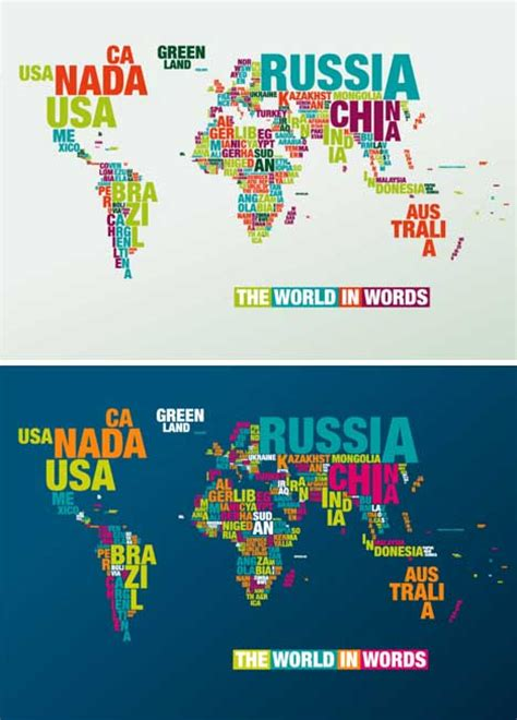 Stiker Peta Dunia Uk 60x90cm geo typographies world map wall stickers made of words
