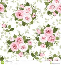 seamless pattern with pink roses royalty free stock photo
