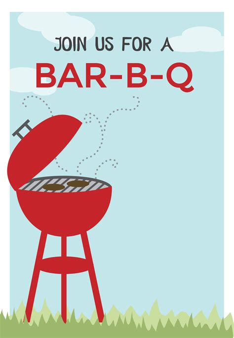 free templates for cookout invitations free printable bbq party invitation bbq cookout