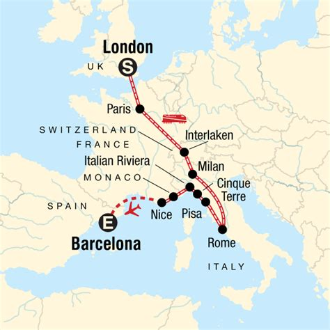 london  barcelona   shoestring  italy europe