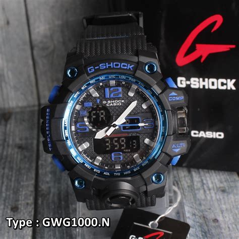 Jam Tangan Pria Cowok G Shock Gwa1100 Black Blue g shock casio gwg1000p black jam tangan pria cowok