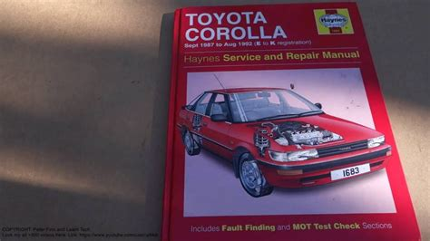 service manual manual cars for sale 1992 toyota 4runner navigation system 1992 toyota service and repair manual review toyota corolla 1987 to 1992 youtube