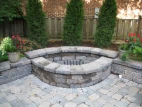 Backyard Brick Fire Pit » Home Design