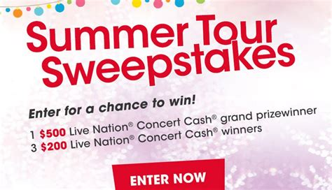 Live Nation Sweepstakes 2017 - valpak live nation ticket to summer sweepstakes