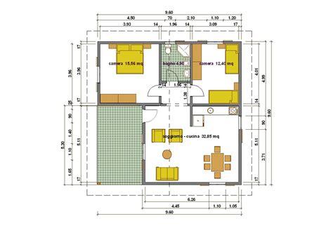 Progetto Casa 75 Mq progetti di in legno casa 75 mq portico 17 mq