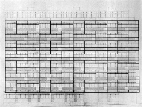 Sustainable Apartment Plans And Elevations by Candilis Josic And Woods Apartment Building Elevation