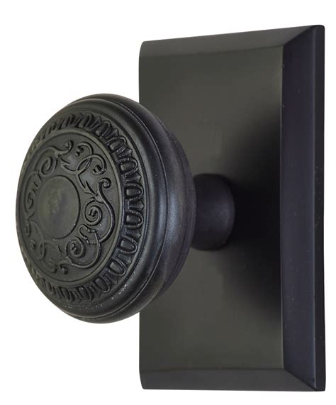 2 inch romanesque door knob with rectangular rosette
