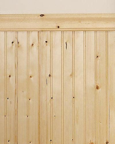 Knotty Pine Wainscoting by Mill Services Premium Bead Knotty Pine Wainscot