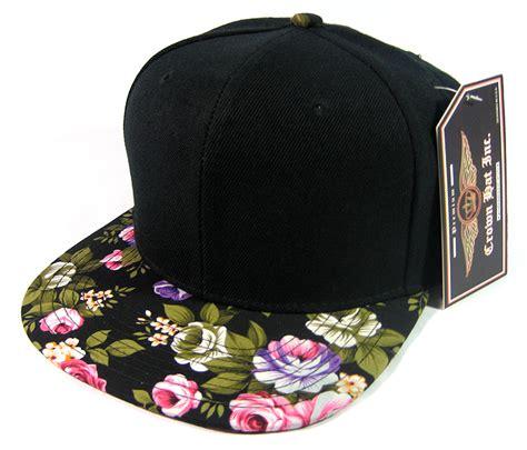 Floral Hat wholesale floral snapback hats blank plain caps green bulk
