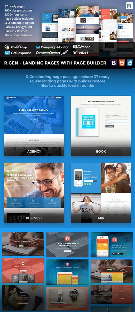 10 Best Bootstrap Landing Page Templates With Responsive Designs Best Bootstrap Landing Page Templates