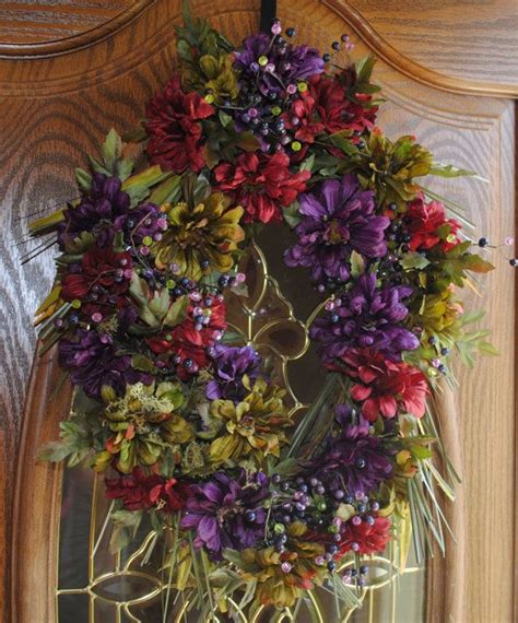 Fall Front Door Wreaths Autumn Wreath Fall Front Door Wreath With