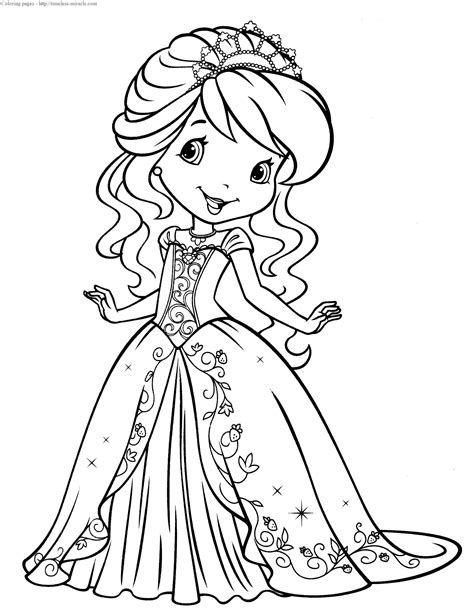 Strawberry Shortcake Coloring Pages Princess | strawberry shortcake princess coloring pages timeless