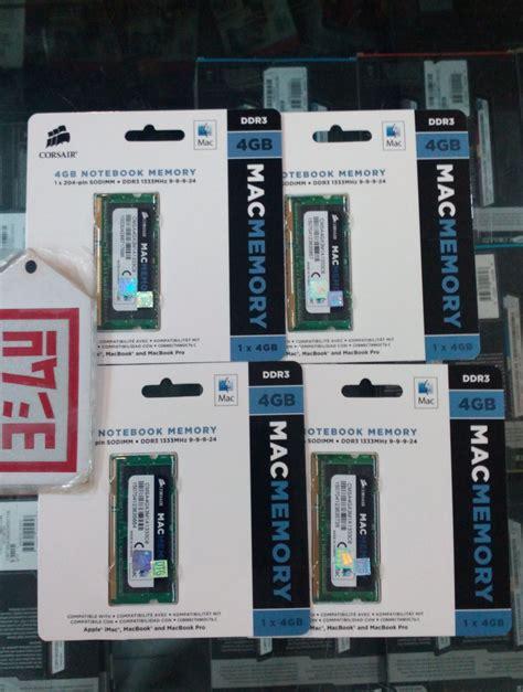 Corsair Memory Notebook 4gb Ddr3 Pc 10600 jual corsair memory sodimms notebook 4 gb ddr3 pc 10600 for macapple everything4u