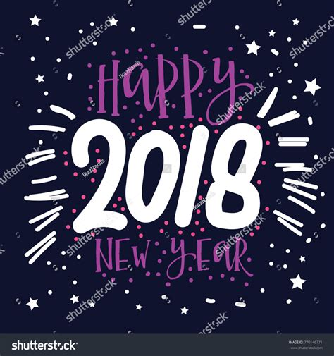 new year 2018 element happy new year 2018 stock vector 770146771