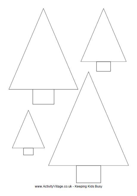 triangle template for christmas tree simple tree template to print