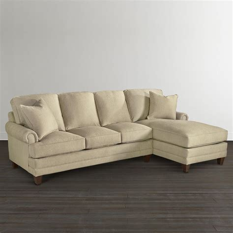 chaise upholstered sectional bassett furniture