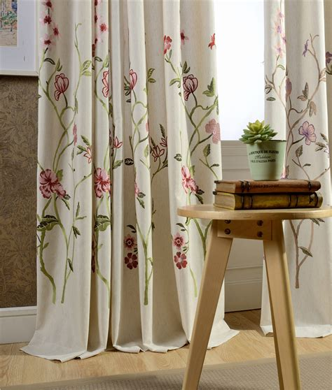 japanese window curtains 2016 new style linen curtain fabric winth embroidered