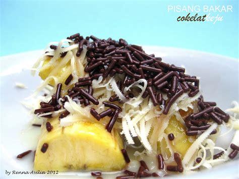 membuat roti bakar coklat keju renvilia pisang bakar