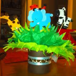 baby shower centerpieces jungle theme baby shower