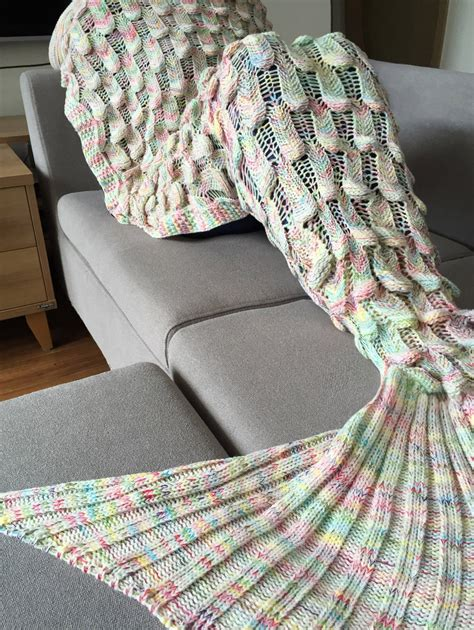 Knitting Pattern Mermaid Tail Blanket