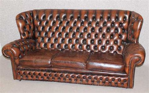 High Back Chesterfield Sofa by Antiques Atlas Brown Chesterfield Style High Back 3