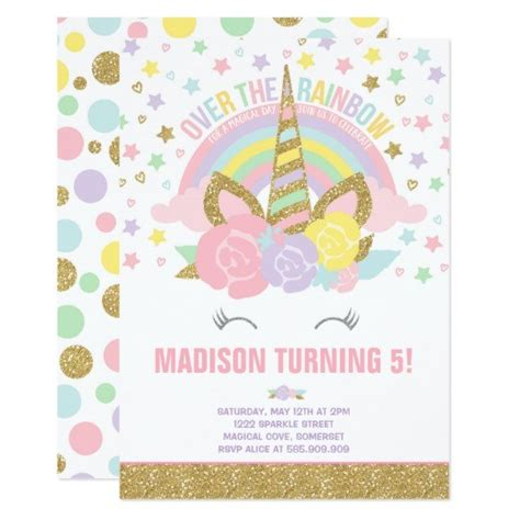 Birthday Party Invitations Attractive Unicorn Birthday Invitations Astonishing Unicorn Unicorn Invitations Free Template