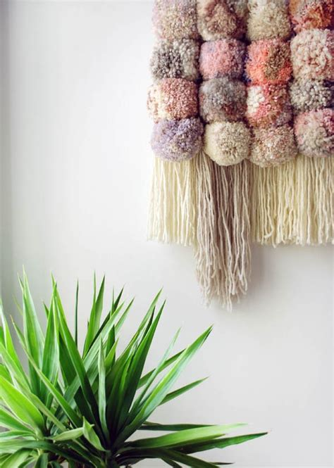 Wall Hanging Tutorial - tutorial make a pom pom wall hanging we are scout