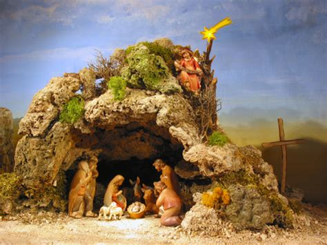 the message of the child nativity scenes cave nativity