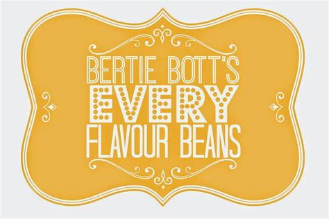 Bertie Botts Every Flavor Beans Label Printable catholic all year happee birthdae betty a harry potter