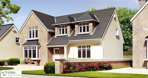 3 dormer house plans 3d house exterior 3d visualisation of dormer bungalow