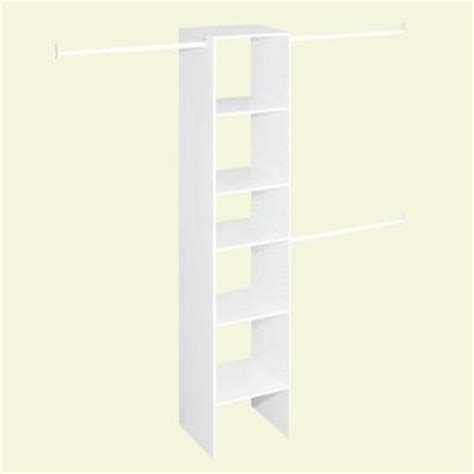 closet organizer home depot closetmaid selectives 16 in white custom closet organizer