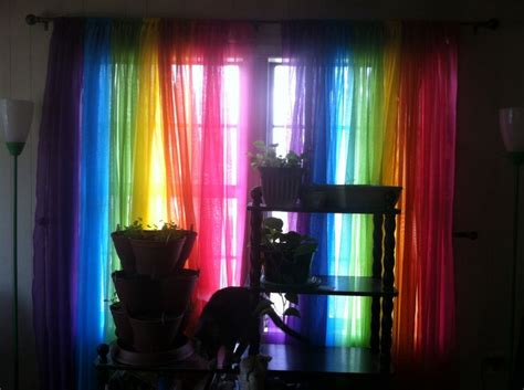 rainbow curtains rainbow curtains curtains pinterest curtains and