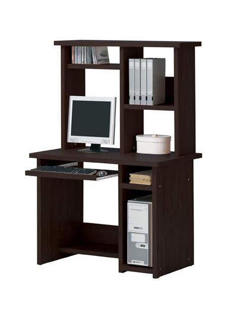 Espresso Computer Desk With Hutch 2 Computer Desk With Hutch In Espresso Finish By Acme 04690