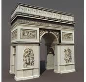 Arc De Triomphe 3D Model Game Ready Max Obj 3ds Lwo