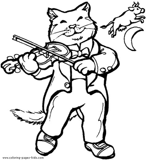 cats musical coloring pages cat playing the violin color page free printable coloring