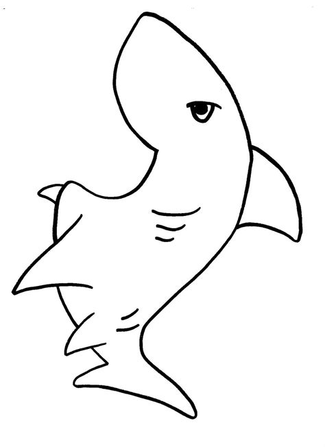 shark template clipart best