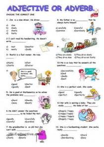 Adjective or adverb worksheet free esl printable worksheets made by