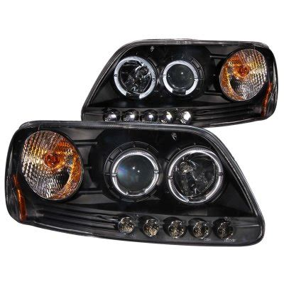1997 ford f150 headlights ford f150 1997 2003 black projector headlights with halo