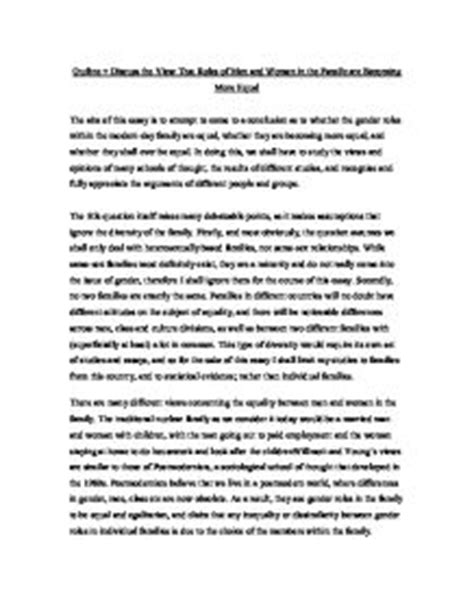 Equal Rights Essay by Sociology Family Essay Writefiction581 Web Fc2