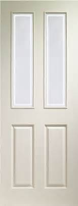 White Half Glass Interior Doors Xl White Moulded Grained Forbes Glass