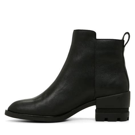 aldo lyttle zip ankle boots in black lyst