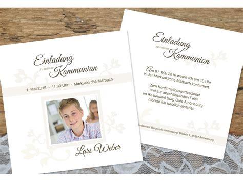 Einladungskarten Schlicht by Einladungskarte Konfirmation Kommunion Quot Schlichte Elegance Quot