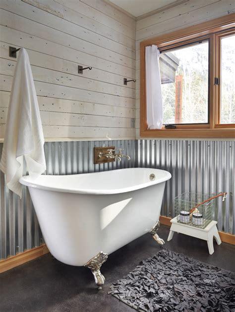Bathroom Tin Walls Contemporary Bathroom