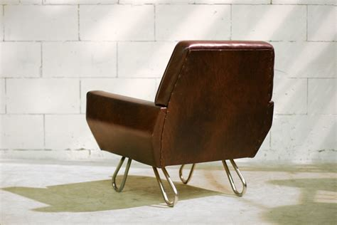 zetel jaren 60 retro vintage fauteuil jaren 60 op metalen luspoten