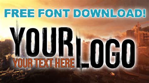 design your own font online free create your own custom dying light logo free font