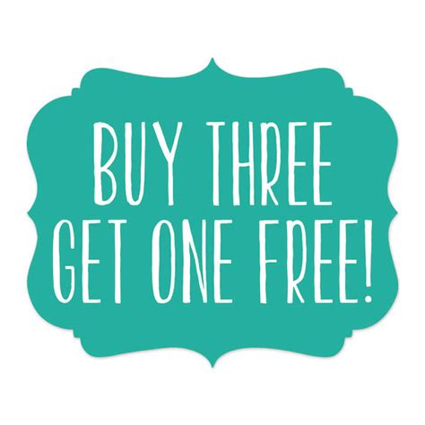 buy one drink get one free card template items similar to sale buy three get one free photoshop