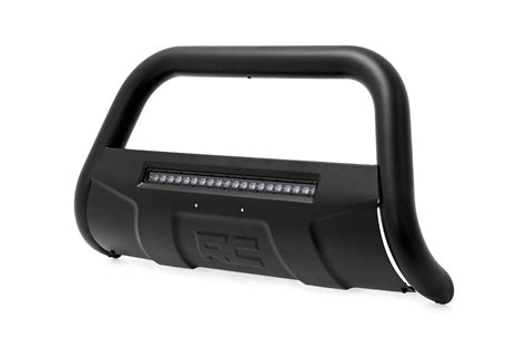 Rough Country Black Bull Bar W Led Light Bar For 88 98 Bull Bar Led Light Bar