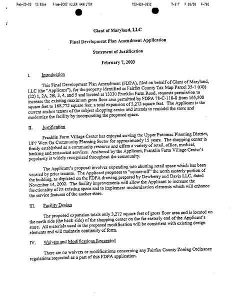 Justification Letter For Travel Agenda For 3 March 2003 Sully District Land Use And Transportation Committee Meeting