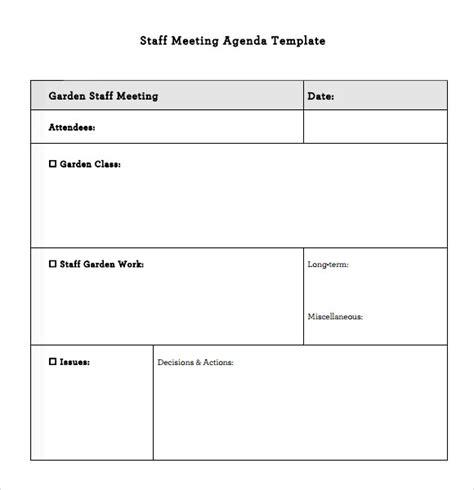 image result for teacher staff meeting agenda template
