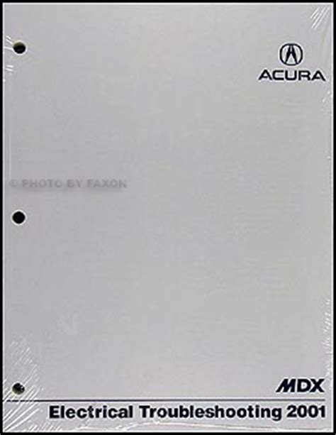 2001 acura mdx electrical troubleshooting manual original